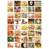 40 gros Stickers-photos Hello Kitty