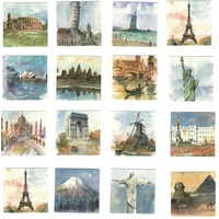 45 Stickers Villes du Monde