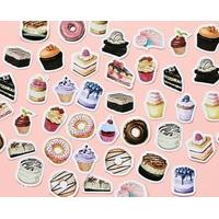 43 Stickers Gâteaux et Pâtisseries