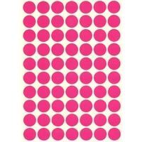 70 gommettes rondes Rose fushia 19mm