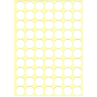 70 gommettes rondes Blanches 19mm