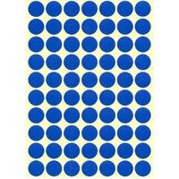 70 Gommettes rondes Bleu foncé 19mm