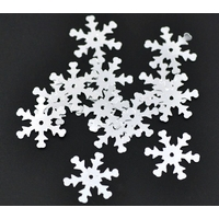 20 sequins flocons de neige 20 mm