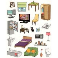 Gommettes des meubles de la maison