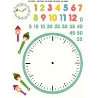 Gommettes pour apprendre à lire l'heure