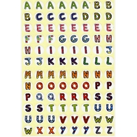 96 Gommettes Alphabet coloré repositionnables