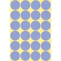 24 grosses gommettes 30 mm bleu violet
