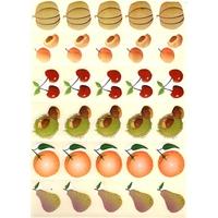 30 gommettes Fruits du Verger
