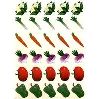 30 gommettes Légumes Courants