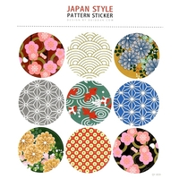 9 gros Stickers thème Japon