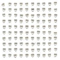 100 cœurs strass blanc nacré en résine époxy 5 mm