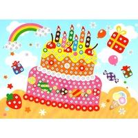 Puzzle mosaïque strass Gâteau d'anniversaire