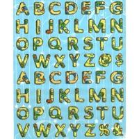 Gommettes Alphabet jaune