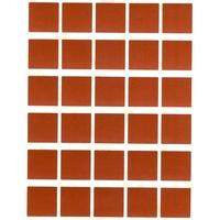 30 gommettes carrées 2 cm X 2 cm Marron