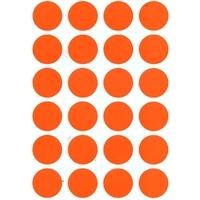 24 gommettes rondes 30 mm orange fluo