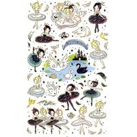 40 Stickers Danseuses du Lac des Cygnes
