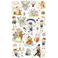 23 gommettes sur le thème de Pinocchio