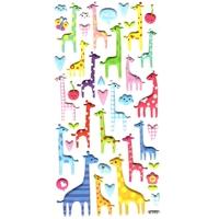 Gommettes 3D de Girafes colorées