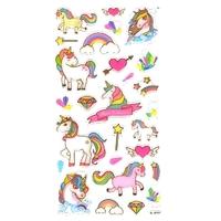 27 Stickers 3D Jolies Licornes