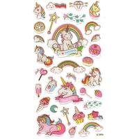 32 Stickers 3D Licornes gourmandes