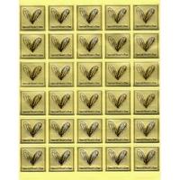 """Étiquettes dorées """"Special Heart's Day"""""""