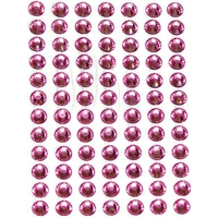 84 strass autocollants 6mm roses