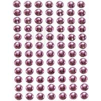 84 strass autocollants 6mm Rose pâle