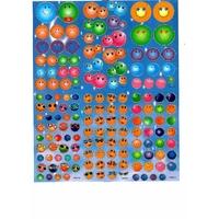 150 Gommettes Autocollantes Smileys colorés