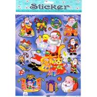 Noel cadeaux sapin arbre de noel gommette souple PVC molle autocollant sticker decoration enfant BLF 005
