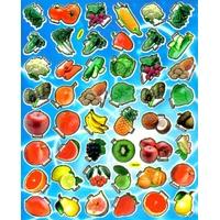 Fruits legumes pomme poire fraise kiwi coco artichaud radis tomate gomette autocollant enfant molle pvc TM0030