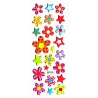 gommette autocollante fleurs  JF 1273