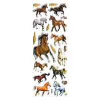 gommete cheval chevaux gommette autocollante sticker adhesif enfants decoration scrapbooking  JF 1203
