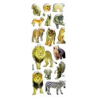 gommettes autocollantes enfants animaux zoo afrique lion elephant ours singe JF1193