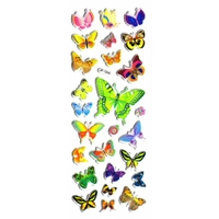 papillons gommette adhesive autocollant sticker decoration scrapbooking  rigide JF1245