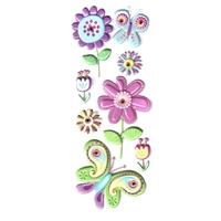 gommettes stickers scrapbooking diamant fleurs  papillon