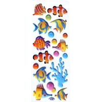 stickers fantaisie poisson paillette 2