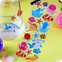 gommettes stickers 3D paillette raies manta X107