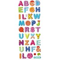 gommettes alphabet paillette X19