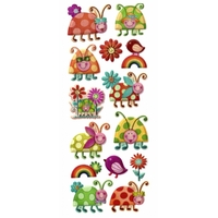 Sticker Fantaisie Sticker Coccinelle Coquine X103S