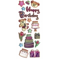 Sticker Carterie Sticker Faire Part Happy Birthday Bebeb X35 S