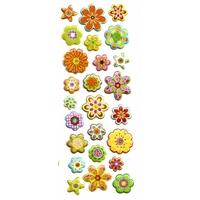 Gommette decoration gommette scrapbooking fleurs paillette T10