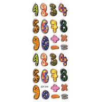 chiffres multicolores pedagogie apprendre à compter enfant gommette autocollante sticker adhesif rigide  JF1216
