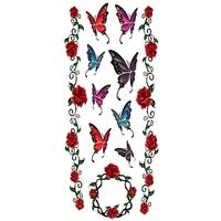 Tatouage Temporaire Papillon et Fleurs