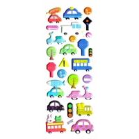 voiture bus mobilette panneaux routiers gommette sticker adhesif autocollant rigide enfant pedagogique JF1284