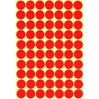 70 Gommettes rondes Rouges 19mm
