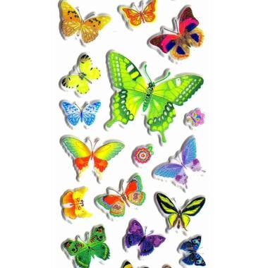 gommettes papillon vert detail F1245