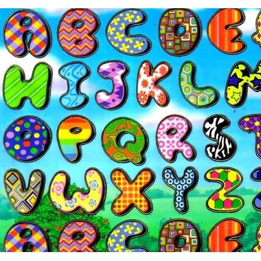 gommette alphabet lettres BLF1108 detail
