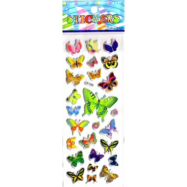 papillons gommette adhesive sticker decoration scrapbooking emballage rigide JF1245