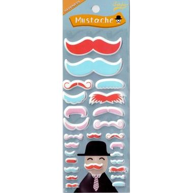 stickers moustache rouge