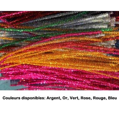 chenilles metallisées